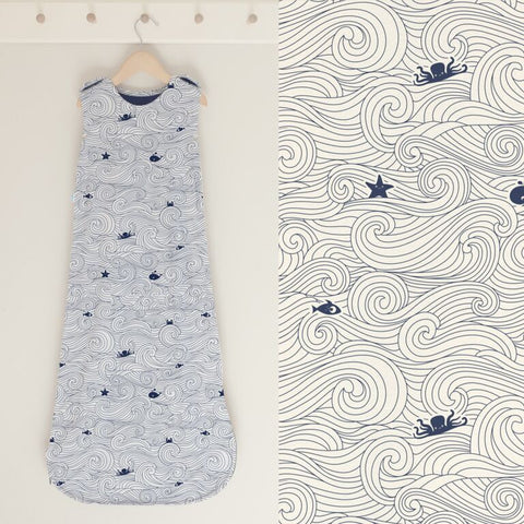 SUPERLOVE MERINO & ORGANIC COTTON BABY SLEEPING BAG - DRIFTING OFF PRINT