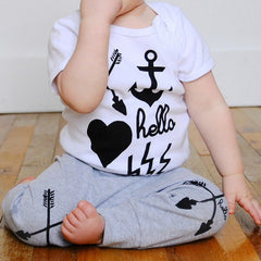 HELLO APPAREL BABY ARROW GREY LEGGINGS