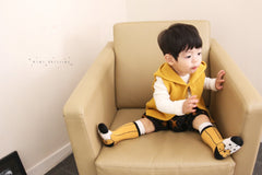 MINI DRESSING PENCIL KNEE SOCKS - YELLOW & BLACK