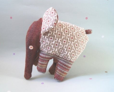 NELLY ELEPHANT SOFT TOY - MULBERRY