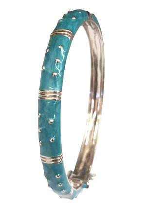 Hinged Enamel Bangle