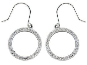 Earring Lb Pave Circle