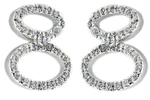 Zirconite Cubic zirconia sterling silver post Earrings