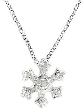 Link Pave Snow Pendant in Rhodium
