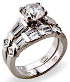 Zirconite Cubic Zirconia Sterling  silver Ring