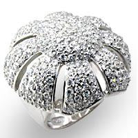 Ring Pave Flower Shape Round