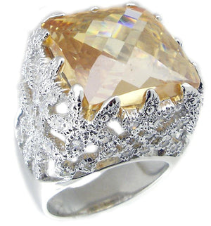 Ring Top Sq Cushion Cut Color