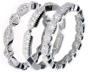 Triple set Stackable Sterling silver Rings