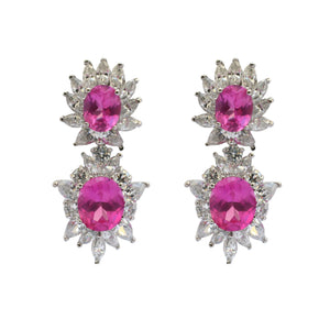 Flower Two Oval Earring