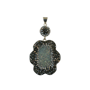 Genuine Druzy Pendant - Green