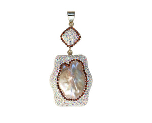 Designer Pendant with Hinged Bail