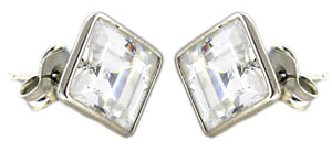 Asher Cut Cz Stud Earring