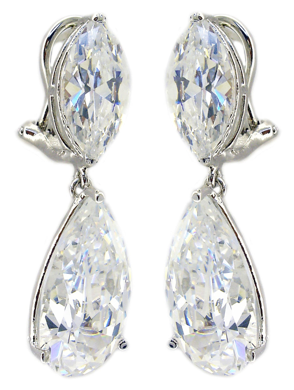 Ophra Mq Top Cz Earring Tear Drop