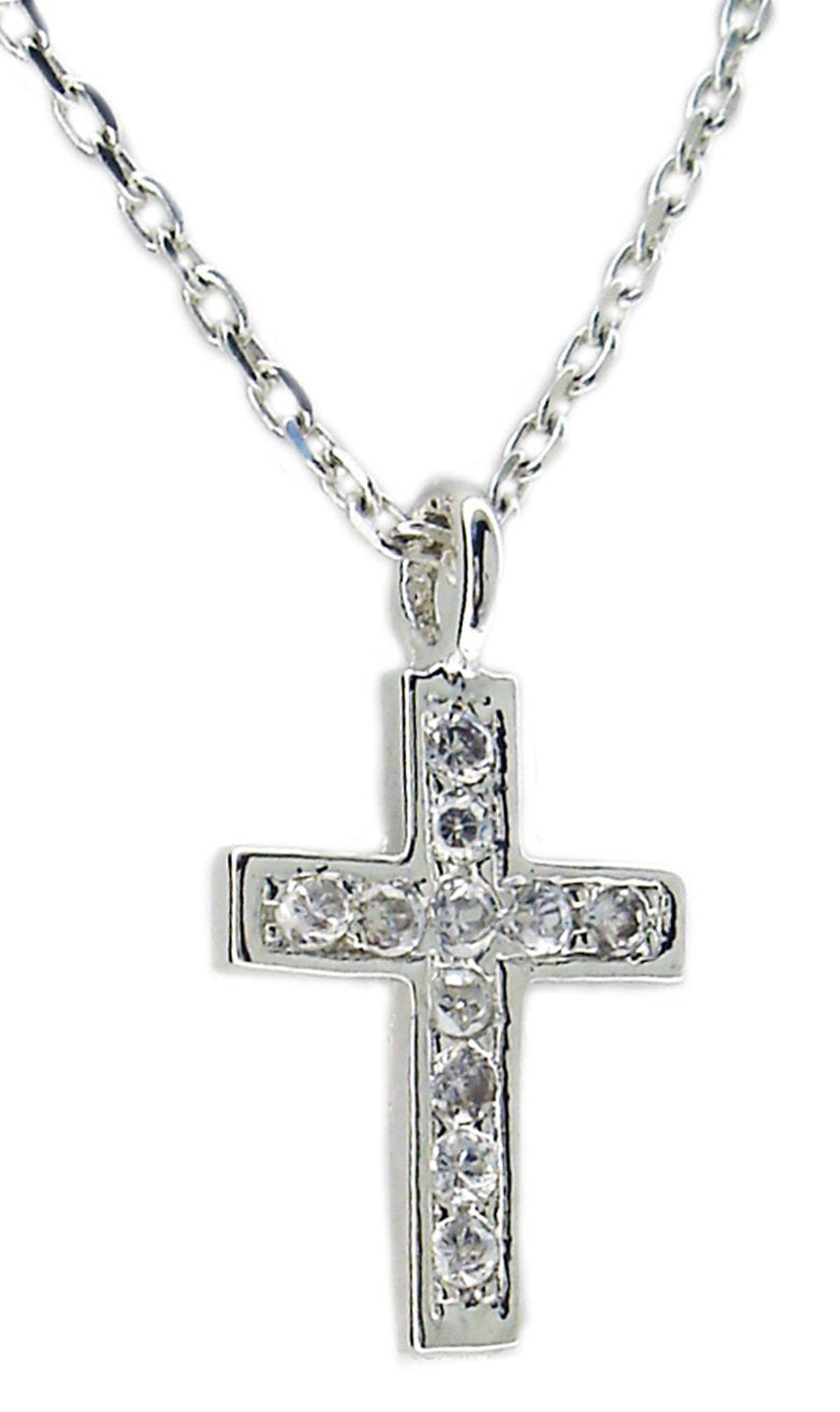 Pave Pendant Cross