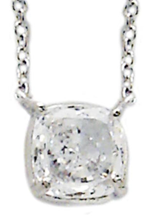 Link Cushion Cut Solitaire Pendant