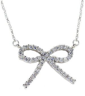 Link Pave Bow Pendant