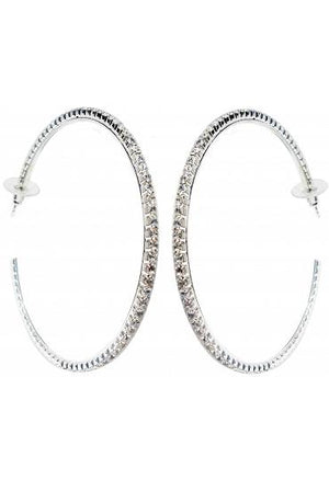 Hoop Crystal Earrings