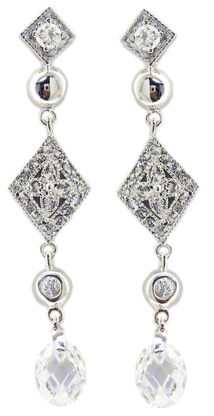 Zirconite Cubic zirconia sterling silver Earrings