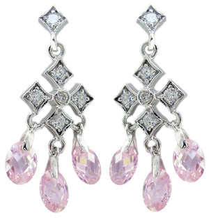 Chandelier Color Cz Earrings