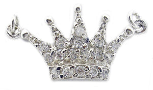 Link Small Crown Pendant in S/S Rhodium