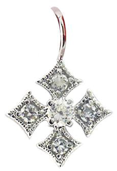 Pave Cross Pendant