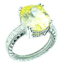 Filegree Ring 2Ct Oval Shape Cz