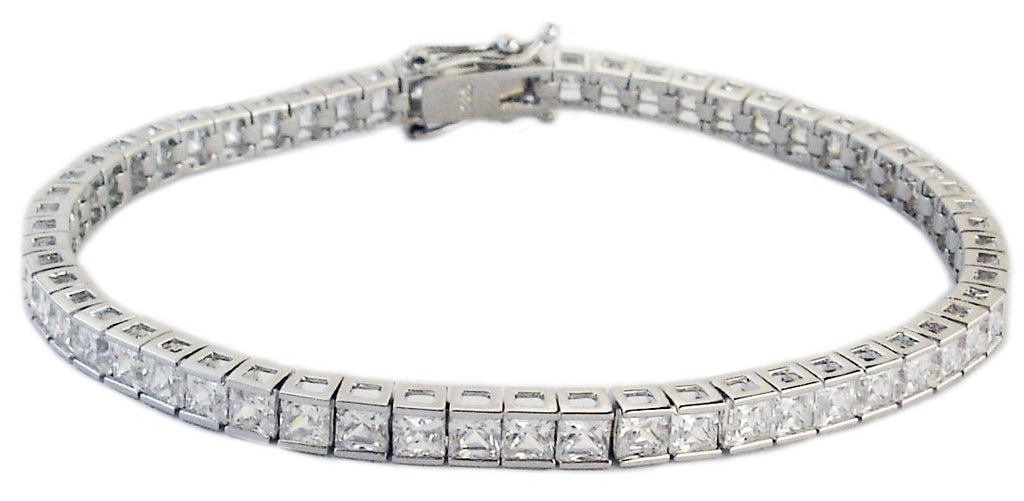 Tennis Bracelet 3mm Bezel Set Round