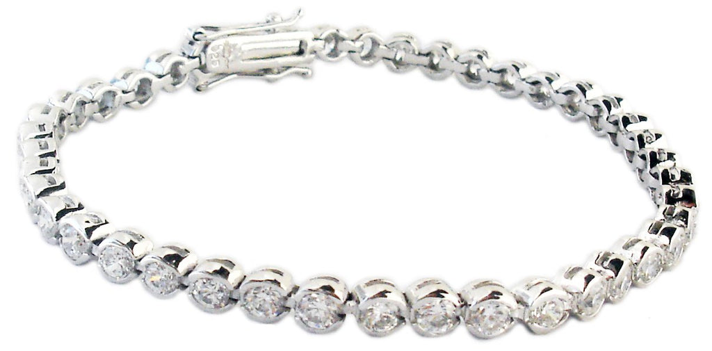 Tennis Bracelet 2mm Bezel Set Round
