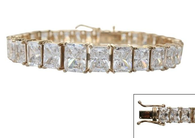 Zirconia Rediant cut Prong set Couture bracelet