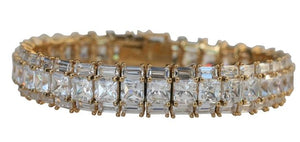 3-Rows large Rediant Square Classic Couture bracelet