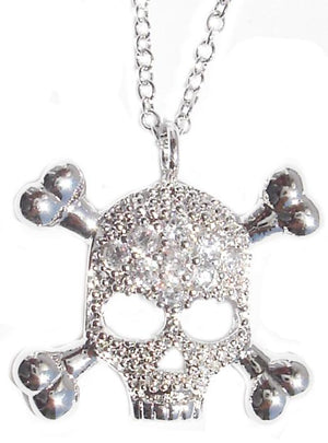 Link Pave Skull Pendant