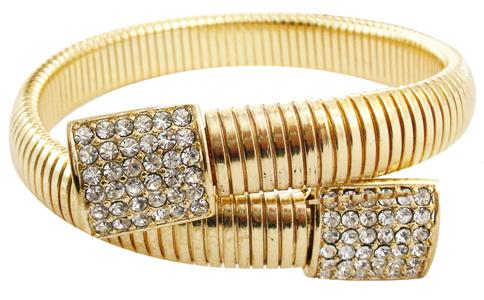 Wrap Around Omega Bracelet - Gold
