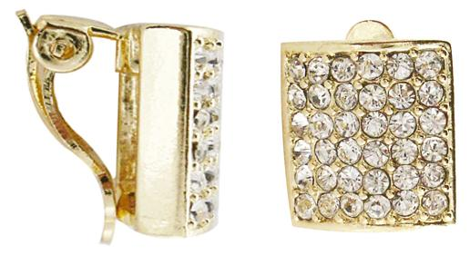 Square Clip Earring - Gold Plating