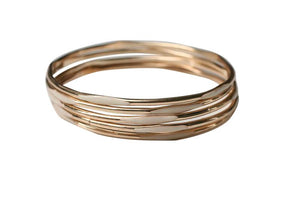 Gold Electroplated Bangle - Beige