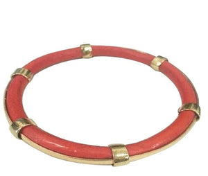 FAUX AND GOLD ELECTROPLATED TRIMS BANGLES -