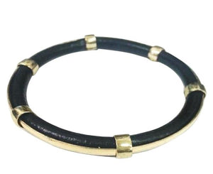 Faux and Gold Electroplated Trims Bangles