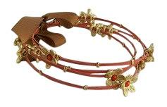 Four Strand Colored Flower Bangles