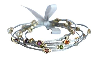 Multi Color Stones Bangle Set