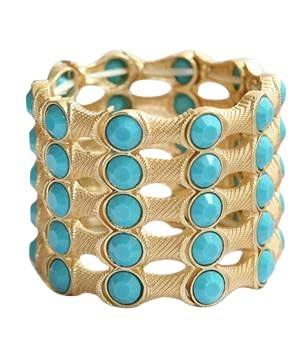 Five Row Gold Plating Bracelet
