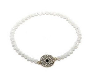4-5MM Faceted Opeque with Center Stretch Bracelet