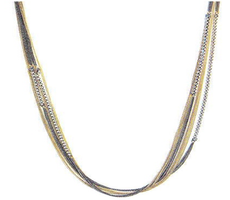 Electroplated Multi-Strand Necklace