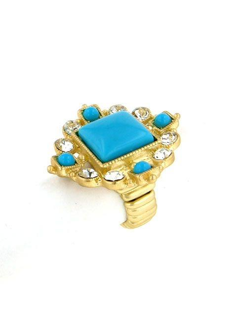Clear Crystals Goldtone Ring