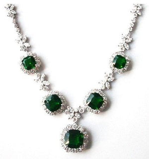 Couture Cushion Square Halo center Zirconite Necklace