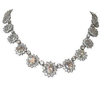 Couture Oval Zirconite Halo Necklace