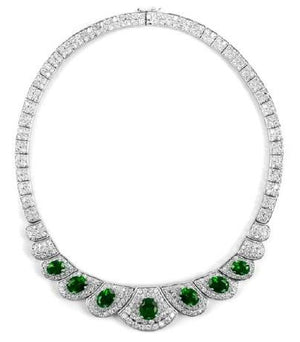 Couture Vintage Oval  Zirconite Necklace