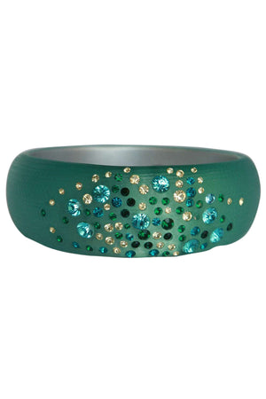 Jeweled frosted wide bangle 629B81361