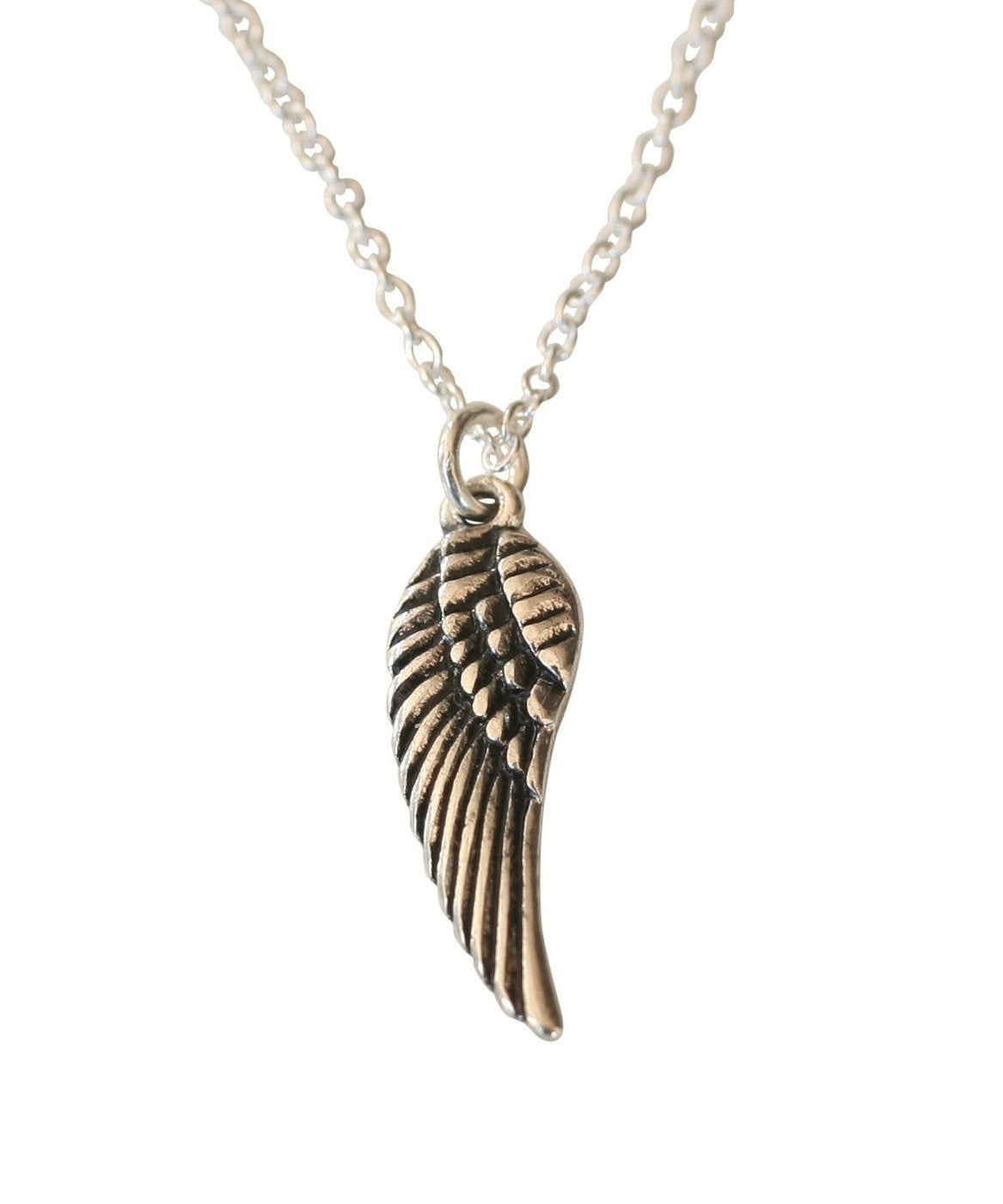 ANGEL WING OF HOPE PENDANT PLATED