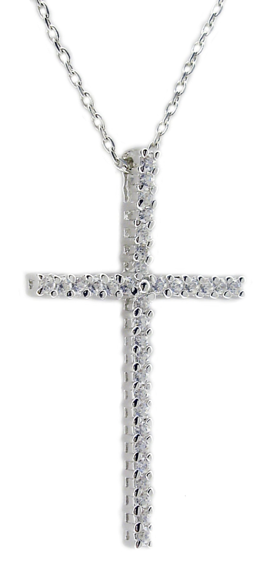 Link Cross Cz S/S Rhodium