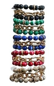 Faceted Acrylic Beads Multi Bracelets-In Various Colors