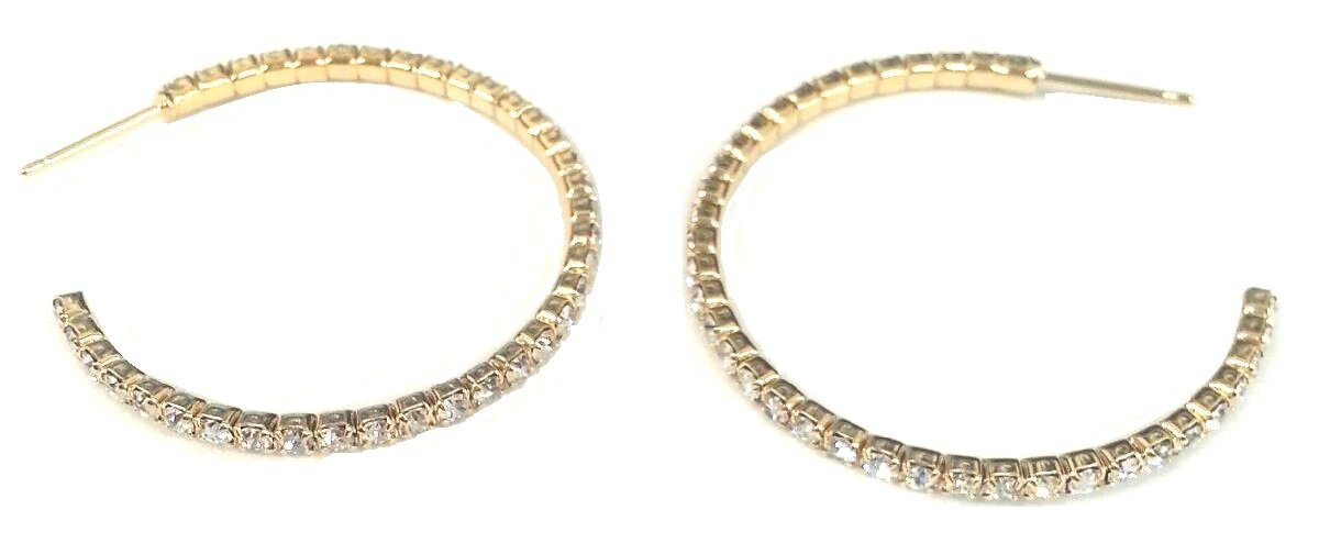 2 mm Electroplated Feather weight Hoop Earrings